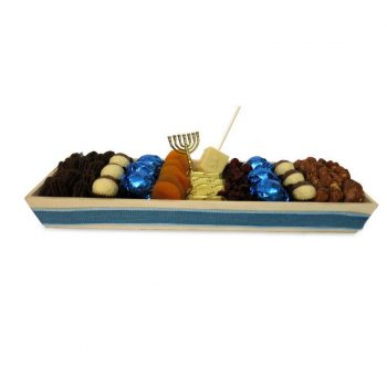 Wooden Chanukah Tray