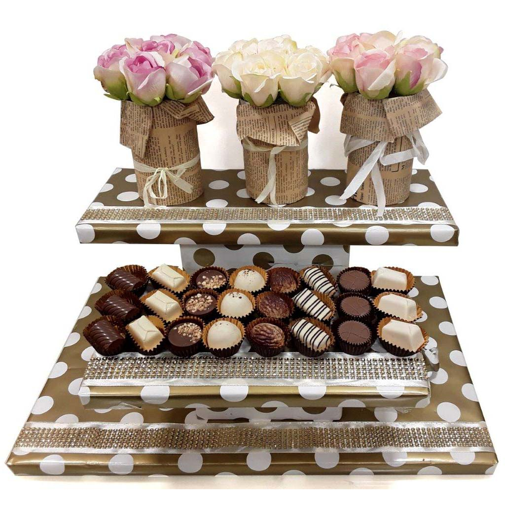 chocolate package with flowers