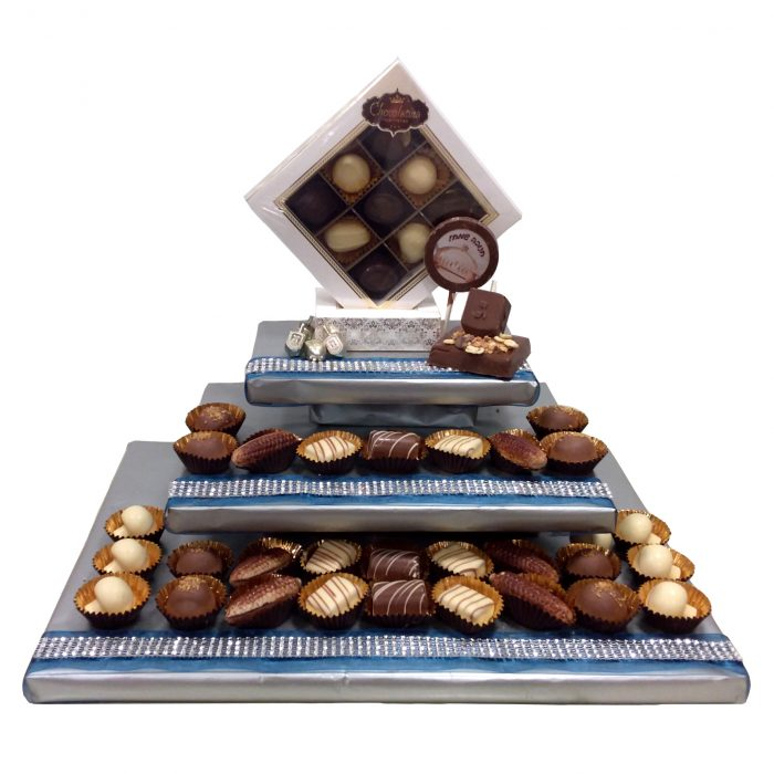 chocolate arrangement with choc dreidel